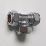 Chrome Plated 15mm Compression Equal Tee - 25501500